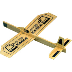 Paul K Guillow Eagle 9 In. Balsa Wood Glider Plane 26 Pack of 48