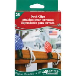 Adams White Deck Light Clips (25-Pack) 3210-99-1640