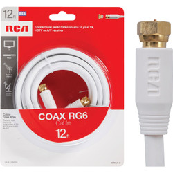 RCA 12 Ft. White Digital RG6 Coaxial Cable VH612WHR