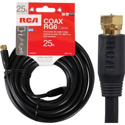 RCA 25 Ft. Black Digital RG6 Coaxial Cable VH625R