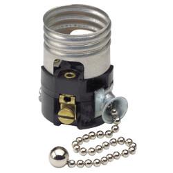 Do it Pull Chain Medium Base Black Interior Lamp Socket C21-19980-00M