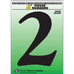Hy-Ko 6 In. Black Gloss House Number Two 30202