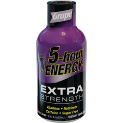 5 Hour Energy 1.93 Oz. Extra-Strength Grape Flavor Energy Drink Pack of 12