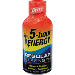 5 Hour Energy 1.93 Oz. Berry Flavor Energy Drink 500181 Pack of 12