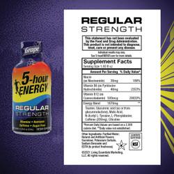 5 Hour Energy 1.93 Oz. Grape Flavor Energy Drink 218123 Pack of 12