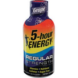 5 Hour Energy 1.93 Oz. Grape Flavor Energy Drink 218123 Pack of 12