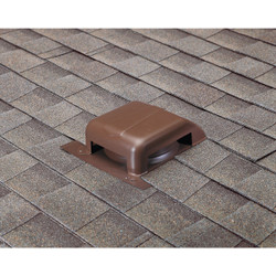 Airhawk 40 In. Brown Galvanized Steel Slant Back Roof Vent RVG40080 Pack of 9