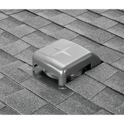 Airhawk 40 In. Mill Galvanized Steel Slant Back Roof Vent RVG40000 Pack of 9