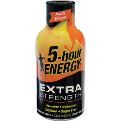 5 Hour Energy 1.93 Oz. Extra-Strength Peach Mango Flavor Energy Drink Pack of 12