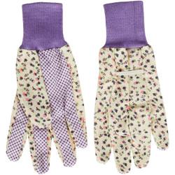 Best Garden Women's 1 Size Fits All Canvas Garden Glove with Knit Cuff 726052