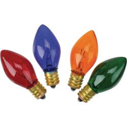 J Hofert C7 Multi Twinkle 125V Replacement Light Bulb (4-Pack) 1420