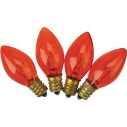 J Hofert C7 Orange Transparent 125V Replacement Light Bulb (4-Pack) 1415-06