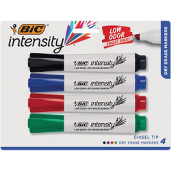Bic Great Erase Grip Extra Large Dry Erase Marker Assortment (4-Pack)