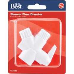 Do it  1/2 In. MPT White Plastic Shower Diverter 483486