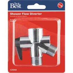 Do it  1/2 In. Chrome Plastic Shower Diverter 420066