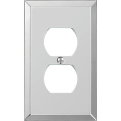 Amerelle 1-Gang Acrylic Outlet Wall Plate, Beveled Mirror 66D