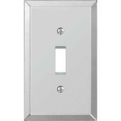 Amerelle 1-Gang Acrylic Beveled Mirror Toggle Switch Wall Plate 66T