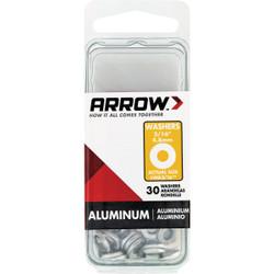 Arrow 3/16 In. Aluminum Rivet Washer (30-Pack) WA3/16