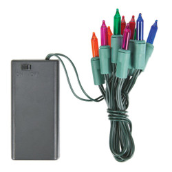 J Hofert Multi 10-Bulb Mini Incandescent Battery Operated Light Set 2311