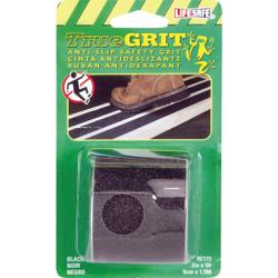 LIFESAFE 2 In.x 5 Ft. Black Anti-Slip Walk Safety Tape RE172