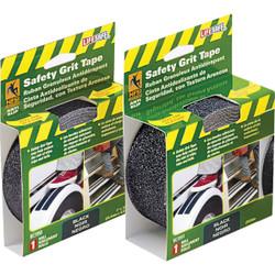 LIFESAFE 1 In.x 15 Ft. Black Anti-Slip Walk Safety Tape RE3950