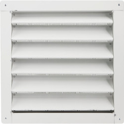 """Air Vent 12"""" x 12"""" Square White Gable Attic Vent 81202 Pack of 6"""
