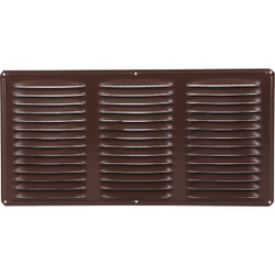 Air Vent 16 In. x 8 In. Brown Aluminum Under Eave Vent 84212 Pack of 24
