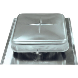 Airhawk 50 In. Mill Galvanized Steel Square Roof Vent RVG51000 Pack of 9