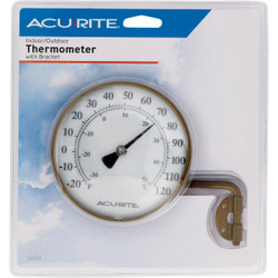 Acurite 4 In. Dia. Metal Dial Indoor & Outdoor Thermometer 00334A2