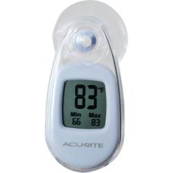 Acurite Digital -4 deg to 158 deg Fahrenheit White Window Thermometer 00315A1