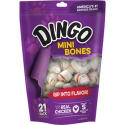Dingo Meat Jerky Bone 2.5 In. Rawhide Chew, (21-Pack) 95001
