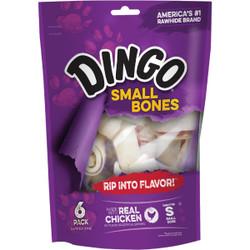 Dingo Meat Jerky Bone 4 In. Rawhide Chew, (6-Pack) 95005