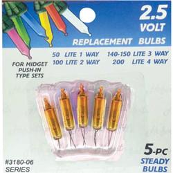 J Hofert Mini Gold 2.5V Replacement Light Bulb (5-Pack) 3180-06