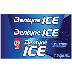 Dentyne Ice Peppermint Chewing Gum (16-Piece) 113762 Pack of 9