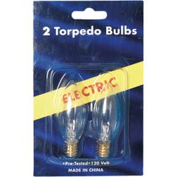 J Hofert Clear 7W Torpedo Candle Light Bulb (2-Pack) 1406-02