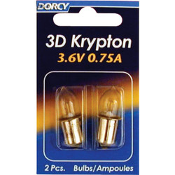 Dorcy 3D Krypton 3.6V Flashlight Bulb (2-Pack) 41-1661