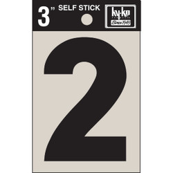 Hy-Ko Vinyl 3 In. Non-Reflective Adhesive Number Two 30402 Pack of 10