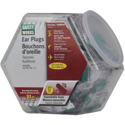 Safety Works Foam NRR 31dB Earplugs in Counter Dispenser (100-Pair) 10059484