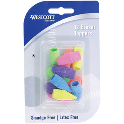 Westcott Cap Pencil Eraser (12-Pack) 14891