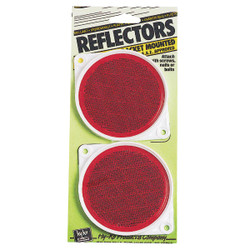 Hy-Ko 3-1/4 In. Dia. Round Red Bracketed Nail-On Reflector (2-Pack) CDRF-3R