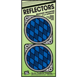 Hy-Ko 3-1/4 In. Dia. Round Blue Bracketed Nail-On Reflector (2-Pack) CDRF-3B
