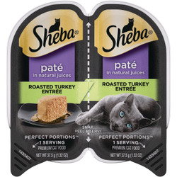 Sheba Perfect Portions Pate 2.6 Oz. Adult Roasted Turkey Wet Cat Food 798138
