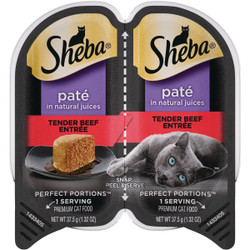 Sheba Perfect Portions Pate 2.6 Oz. Adult Tender Beef Wet Cat Food 798137
