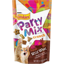 Purina Party Mix Wild West-Beef, Liver, & Cheddar 2.1 Oz. Cat Treat 050417