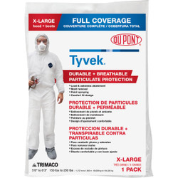 Dupont Tyvek XL Hooded Reusable Painter's Coveralls 141232/12