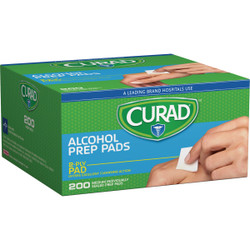 Curad 1 In. x 1 In. 70% Alcohol Swabs (200 Ct.) CUR45581RBI