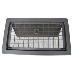 Witten 8 In. x 16 In. Gray Manual Foundation Vent with Damper 500GR