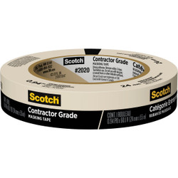 3M Scotch 0.94 In. x 60.1 Yd. Contractor Grade Masking Tape 2020-24AP