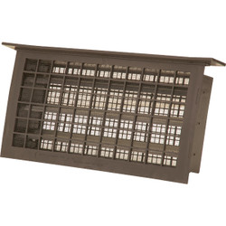 Witten 8 In. x 16 In. Brown Automatic Foundation Ventilator with Lintel 304LBR