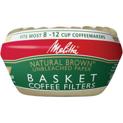 Melitta 8-12 Cup Brown Basket Coffee Filter (100-Pack) 62994